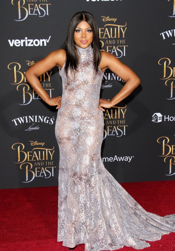 Toni Braxton at Beauty & The Beast Premiere in Los Angeles 3/2/ 2017