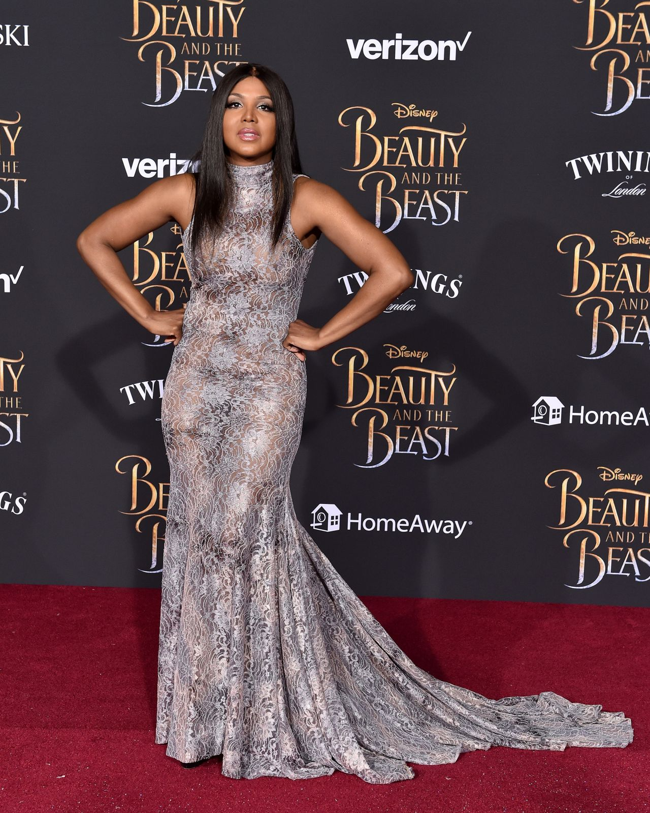 Braxton And Yancey Mid Century Modern Decor: Toni Braxton At Beauty & The Beast Premiere In Los Angeles