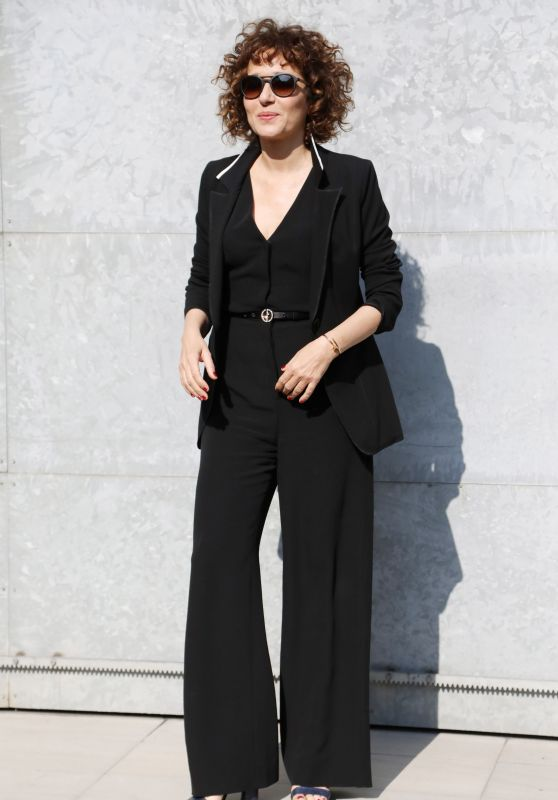 Valeria Golino at Milan Fashion Week – Armani Show Arrivals 2/27/ 2017