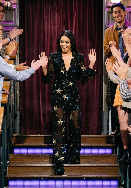 Vanessa Hudgens Appeared on The Late Late Show with James Corden in Los Angeles, March 2017
