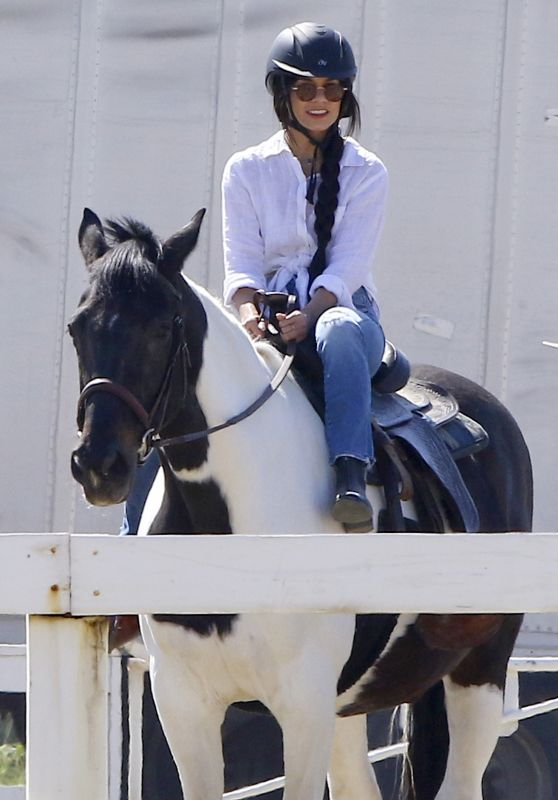Vanessa Hudgens - Learn How to Ride a Horse - Los Angeles 3/16/ 2017