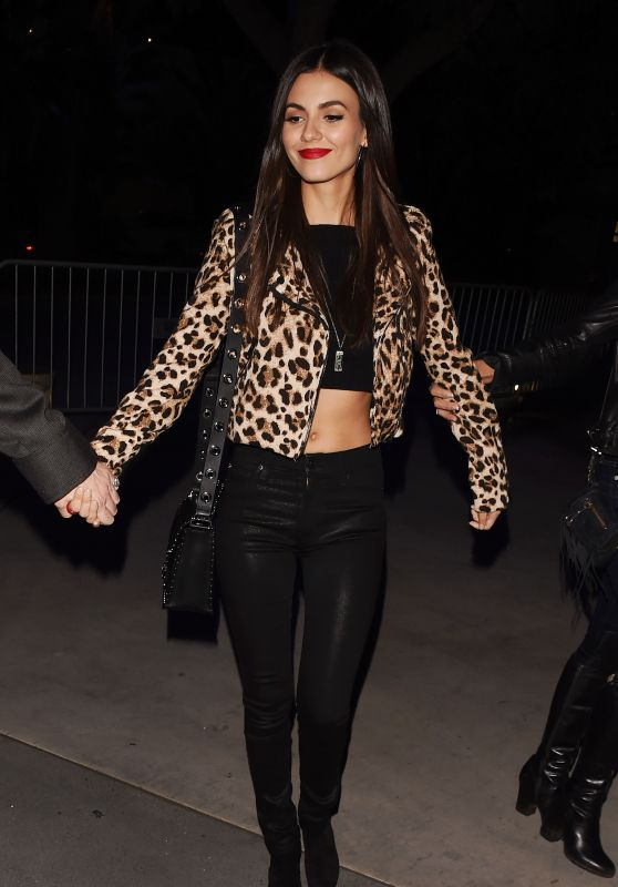Victoria Justice - Heading to the Staples Center in Los Angeles for the Red Hot Chili Peppers Concert 3/7/ 2017