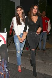 Victoria Justice & Madison Reed - Outside the Tao Group Los Angeles Grand Opening Block Party in LA 3/16/ 2017