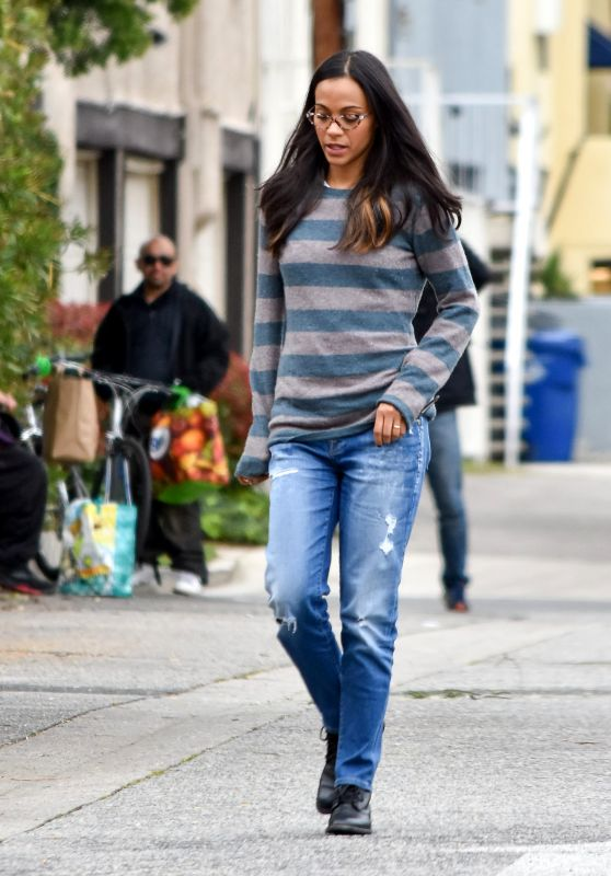 Zoe Saldana Street Style - Los Angeles 2/27/ 2017