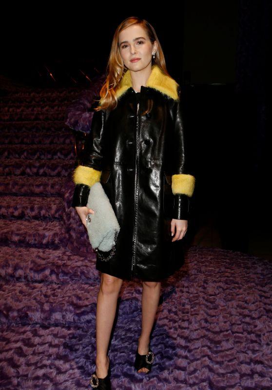 Zoey Deutch - Miu Miu show at Paris Fashion Week 3/7/ 2017