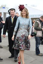 Charlotte Hawkins at Grand National Ladies Day at Aintree in Merseyside, England 4/7/2017
