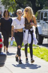 Stella Maxwell and Kristen Stewart - Out in New Orleans 4/20/2017