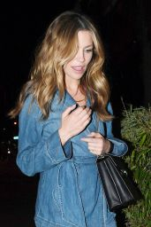 Abbey Clancy in All Jean Ensemble at the Half Moon Pub in London 4/7/2017