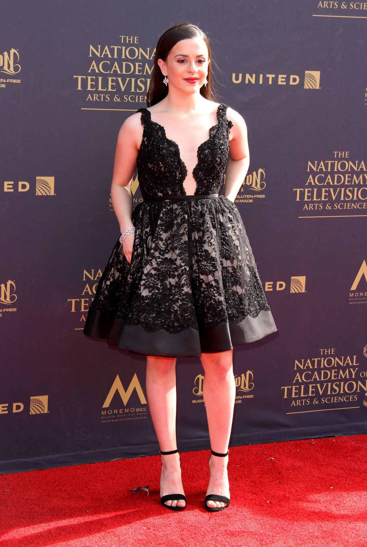 Adrianna di liello on red carpet daytime creative arts emmy awards 2019 in pasadena