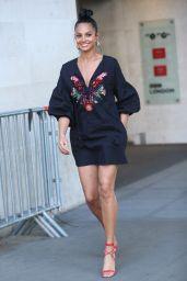 Alesha Dixon - Leaving the BBC Studios in London 4/6/2017