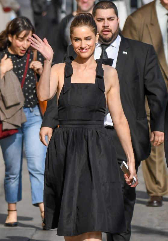 Amanda Peet Arriving to Appear at Jimmy Kimmel Live in LA 4/3/2017