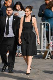 Amanda Peet Arriving to Appear at Jimmy Kimmel Live in LA 4/3/2017