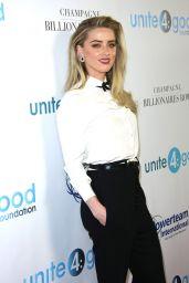 Amber Heard - unite4:humanity Gala in Los Angeles 4/7/2017