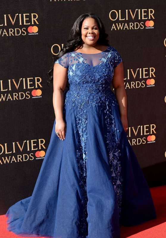 Amber Riley on Red Carpet – Olivier Awards 2017 in London