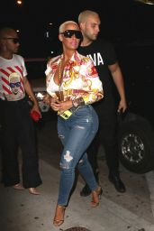 Amber Rose Night Out Style - Arrives at Catch LA in West Hollywood 04/28/2017