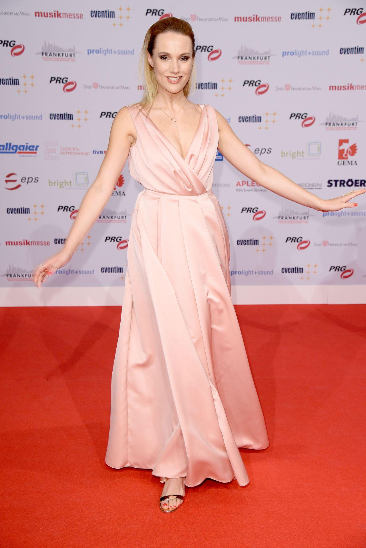 Anna Hofbauer – PRG Live Entertainment Award in Frankfurt 4/3/2017