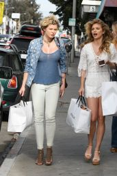 AnnaLynne and Angel McCord Style - Leaving the Revolve Social Club in LA 4/7/2017
