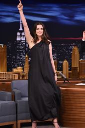 Anne Hathaway Visits The Tonight Show Starring Jimmy Fallon 4/17/2017