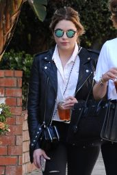 Ashley Benson Casual Style - Out With a Friend in LA 3/31/2017