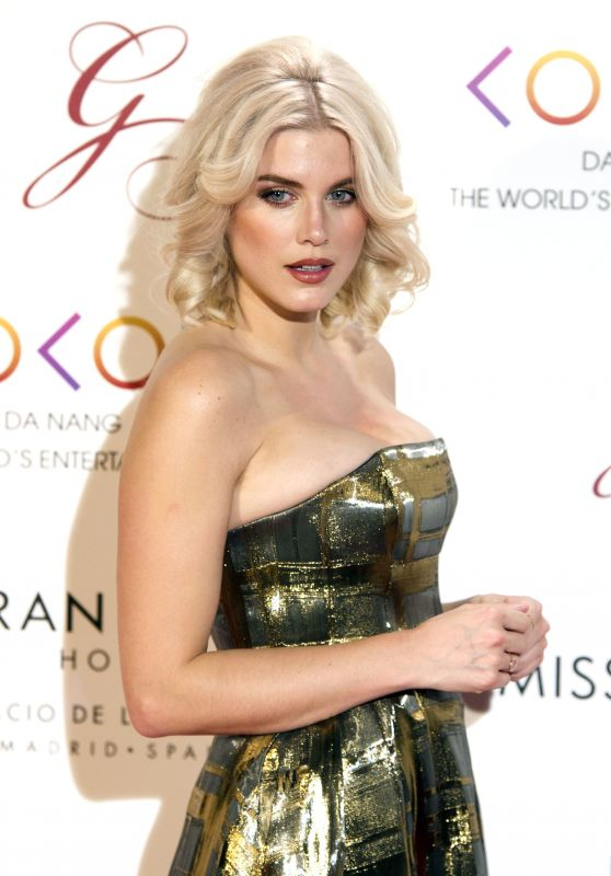 Ashley James on Red Carpet - Global Gift Gala in Madrid, April 2017