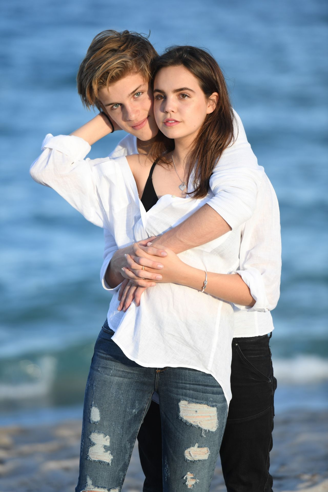 Celebrity couples at the beach