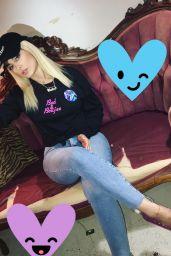 Bebe Rexha Social Media Pics 4/4/2017