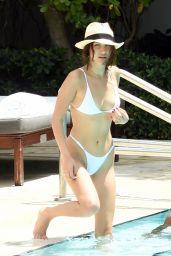 Bella Hadid in a Bikini at a Pool in Miami, FL 04/28/2017