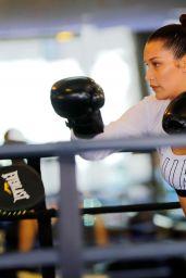 Bella Hadid Sparring at Gotham Gym in New York City 4/8/2017