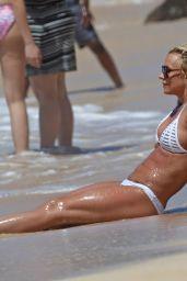Britney Spears Beach Bikini Fun in Kauai, Hawaii, April 2017