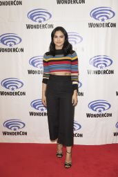 """Camila Mendes at """"Riverdale"""" Press Room at WonderCon in Anaheim 3/31/2017"""