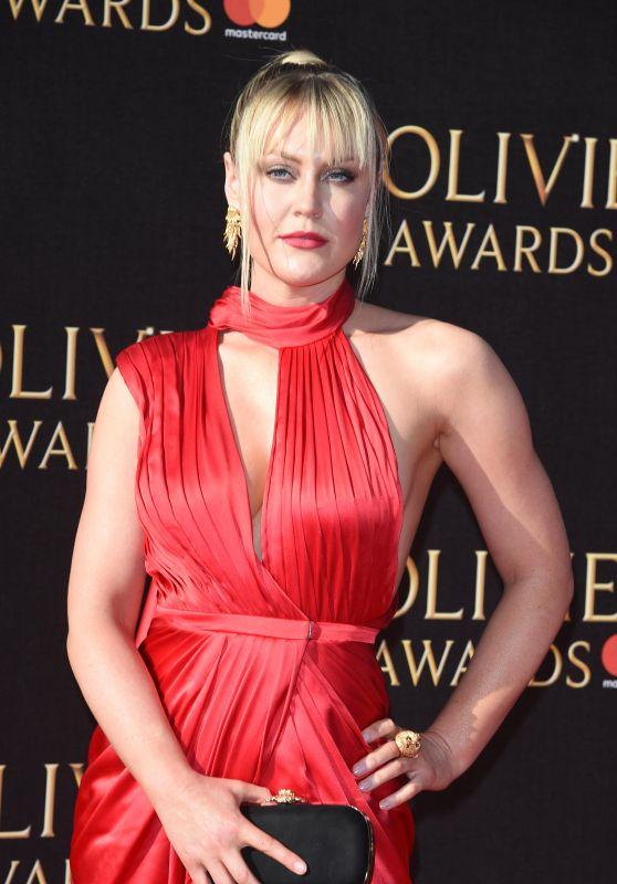 Camilla Kerslake on Red Carpet – Olivier Awards 2017 in London