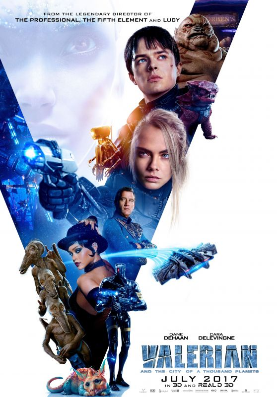 "Cara Delevingne - ""Valerian and the City of a Thousand Planets"" Poster (2017)"