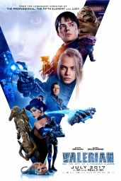 """Cara Delevingne - """"Valerian and the City of a Thousand Planets"""" Poster (2017)"""