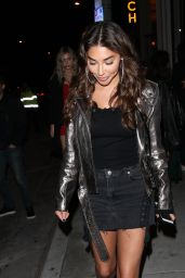 Chantel Jeffries Leggy in Mini Skirt - Leaves Catch LA Restaurant 4/2/2017