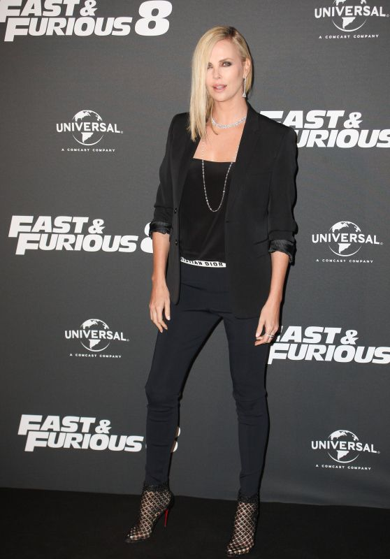 """Charlize Theron on Red Carpet - """"The Fate of the Furious"""" Premiere in Paris 4/5/2017"""