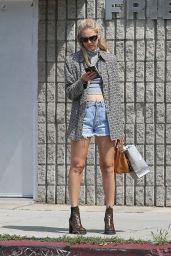 Chiara Ferragni Displays Her Legs in Jeans Shorts - Los Angeles 4/3/2017