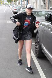 Chloe Grace Moretz in Shorts Leaving a Pilates Class in LA 4/6/2017