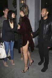Chrissy Teigen and John Legend have dinner at Spago in Beverly Hills 4/8/2017