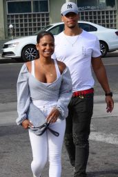 Christina Milian in Casual Attire at the Stout Restaurant in Hollywood 4/7/2017