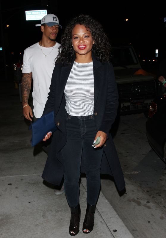 Christina Milian - Leaving Catch LA Restaurant in West Hollywood 4/6/2017