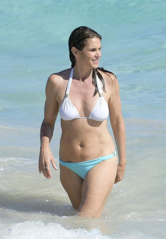 Cindy Crawford Shows Off Bikini Body - St Barth 4/7/2017