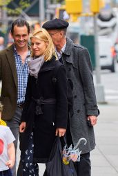 Claire Danes Street Style - Out in New York City 4/21/2017