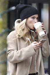 Claire Holt Casual Style - Out in Vancouver 4/4/2017