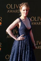 Clare Foster On Red Carpet – Olivier Awards in London 4/9/2017