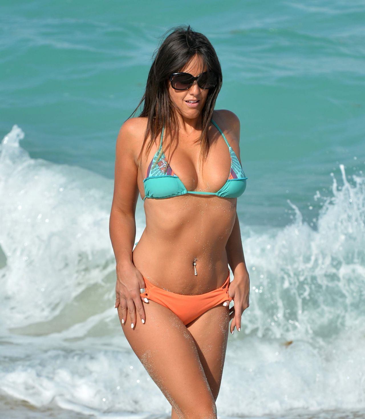 Claudia Romani in Bikini on South Beach in Miami 2 Pic 2 of 35