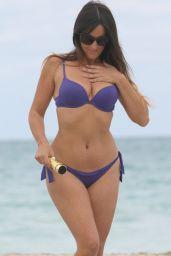 Claudia Romani on the Beach in Miami, April 2017