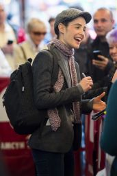 Cobie Smulders Wearing a Grey Blazer - Present Laughter in New York City 4/15/2017