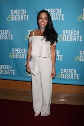 "Courtney Reed at ""Speech & Debate"" Premiere in New York 4/2/2017"