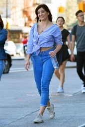 Daisy Lowe Casual Style - SoHo in New York, April 2017