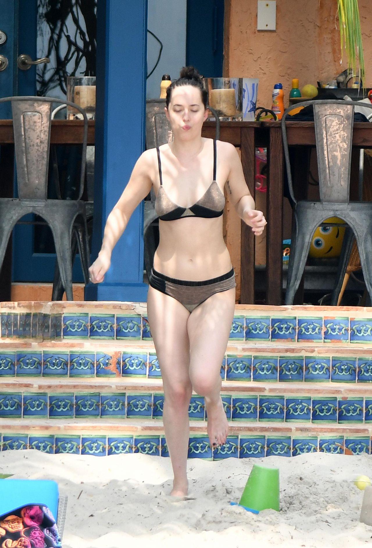 Dakota Johnson Bikini Candids Miami 4 2 2017